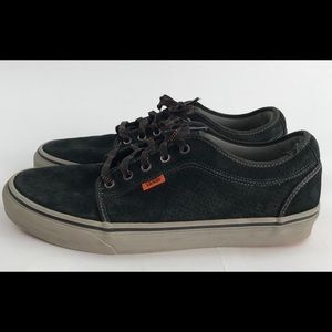 Vans suede leather low skate shoes Men's 12 black